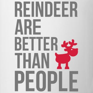 Reindeer are better than people Långärmade T-shirts baby - Mugg