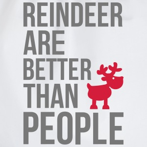 Reindeer are better than people T-Shirts - Drawstring Bag