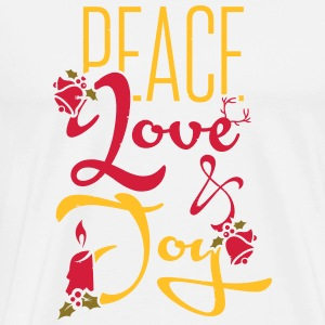 Peace, Love Long Sleeve Shirts - Men's Premium T-Shirt