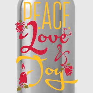 Peace, Love T-Shirts - Water Bottle