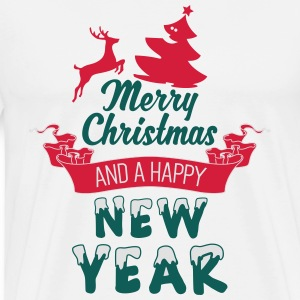 Merry Christmas and a Happy new Year Långärmade T-shirts - Premium-T-shirt herr