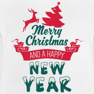 Merry Christmas and a Happy new Year Shirts met lange mouwen - Baby T-shirt