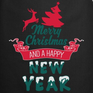 Merry Christmas and a Happy new Year T-shirts - Förkläde