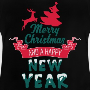 Merry Christmas and a Happy new Year Tee shirts - T-shirt Bébé