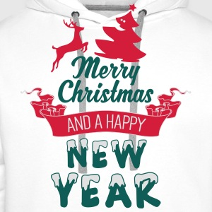 Merry Christmas and a Happy new Year Shirts - Mannen Premium hoodie