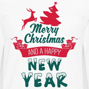 Merry Christmas and a Happy new Year T-shirts - Mannen Premium shirt met lange mouwen