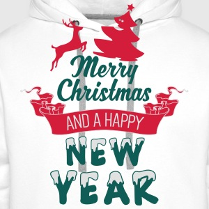 Merry Christmas and a Happy new Year Shirts - Men's Premium Hoodie