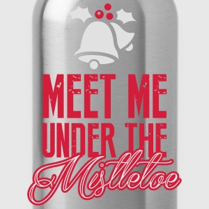Meet Me Under the Mistletoe Long Sleeve Shirts - Water Bottle