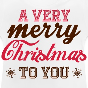 A very merry christmas to you! Camisetas - Camiseta bebé