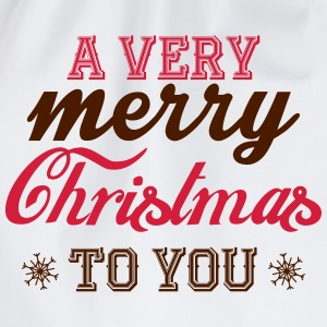 A very merry christmas to you! T-Shirts - Drawstring Bag