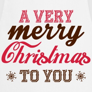 A very merry christmas to you! T-shirts - Keukenschort