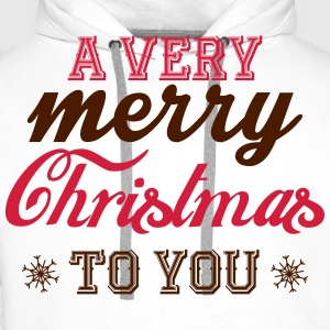 A very merry christmas to you! T-Shirts - Men's Premium Hoodie