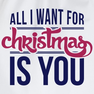 All I want for christmas is you Long Sleeve Shirts - Drawstring Bag