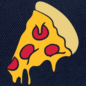 pizza dripping cheese salami piece design T-Shirts - Snapback Cap