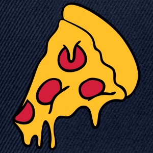 pizza dripping cheese salami piece T-Shirts - Snapback Cap
