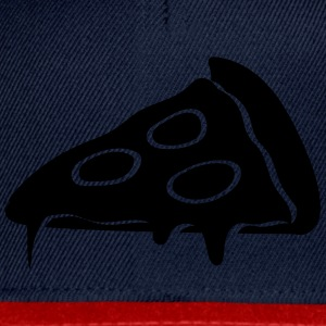 pizza dripping cheese salami slices piece T-Shirts - Snapback Cap