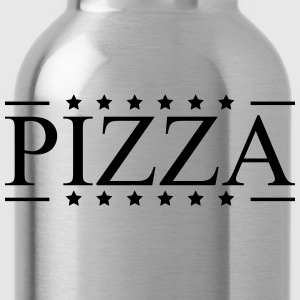 logo design star favorite food pizza T-Shirts - Water Bottle