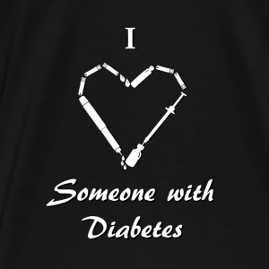 I Love Someone With Diabetes - Needle - White Hoodies & Sweatshirts - Men's Premium T-Shirt