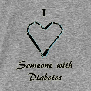 I Love Someone With Diabetes - Needle - Black Hoodies & Sweatshirts - Men's Premium T-Shirt