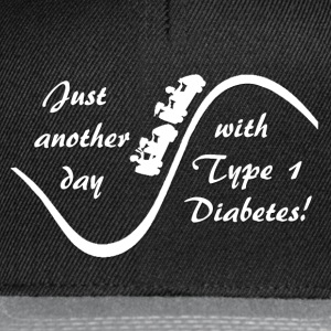 Just Another Day With Type 1 Diabetes - White Hoodies & Sweatshirts - Snapback Cap
