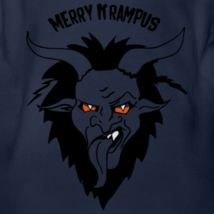 Merry Krampus Nikolaus Shirts - Organic Short-sleeved Baby Bodysuit