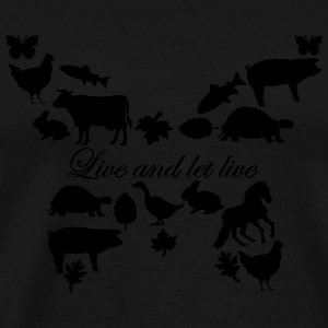 Live and let Live - Tasse - Männer Premium T-Shirt
