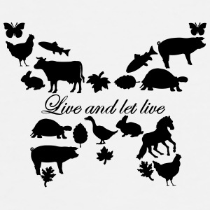 Live and let Live - Togo Becher - Männer Premium T-Shirt