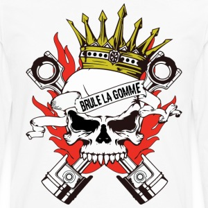 skull king motard Tee shirts - T-shirt manches longues Premium Homme
