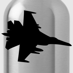 fighter jet plane war air raid weapons fire fighte T-Shirts - Water Bottle