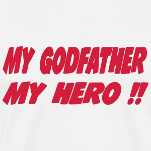 My godfather My hero !!  Aprons - Men's Premium T-Shirt