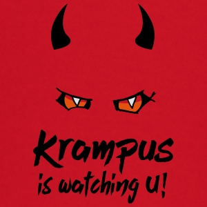 Krampus is watching U with evil eyes and horns Bags & Backpacks - Baby Long Sleeve T-Shirt