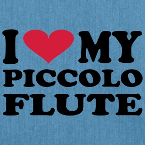 I Love My Piccolo Flute - Schultertasche aus Recycling-Material