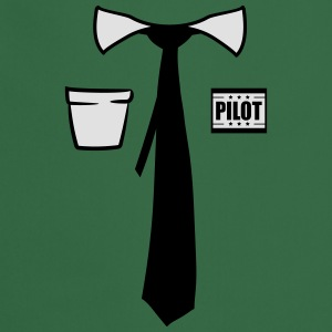 Shirt Tie Suit Pilot certificate costume funny T-Shirts - Cooking Apron