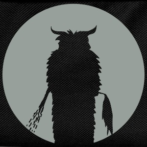 Moon with Krampus Silhouette T-Shirts - Kids' Backpack