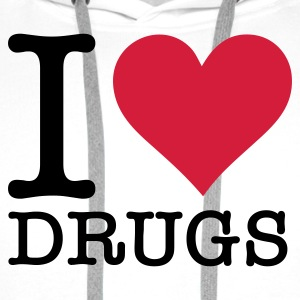 I love drugs! Mugs & Drinkware - Men's Premium Hoodie