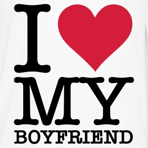 I love my boyfriend! Bags & Backpacks - Men's Premium Longsleeve Shirt