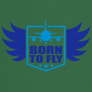 born to fly logo wing aircraft pilot crest T-Shirts - Cooking Apron