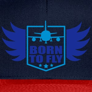 born to fly logo wing aircraft pilot crest T-Shirts - Snapback Cap