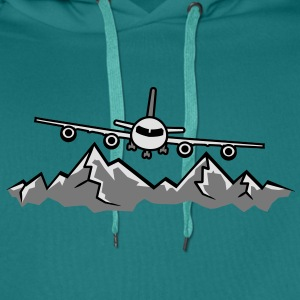 Mountains Alps snow winter ski holiday vacation la T-Shirts - Men's Premium Hoodie