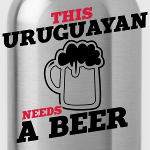 this uruguayan needs a beer - Water Bottle