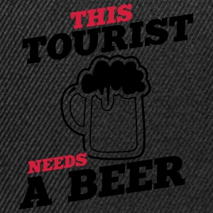 this tourist needs a beer - Snapback Cap