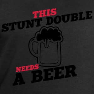 this stunt double needs a beer - Men's Sweatshirt by Stanley & Stella