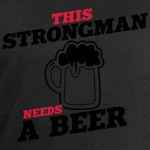 this strongman needs a beer - Men's Sweatshirt by Stanley & Stella