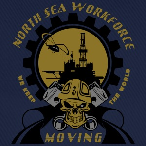 Oil Rig Oil Field North Sea Keeps The World Moving - Baseball Cap
