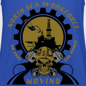 Oil Rig Oil Field North Sea Keeps The World Moving - Women's Tank Top by Bella