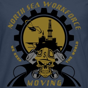 Oil Rig Oil Field North Sea Keeps The World Movng - Men's Premium Longsleeve Shirt