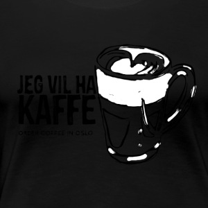 Coffee in Oslo - Vrouwen Premium T-shirt