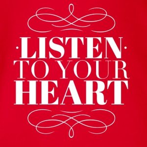 Listen to your heart Tee shirts - Body bébé bio manches courtes