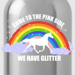 Einhorn *Come to the pink side - we have glitter* Pullover & Hoodies - Trinkflasche