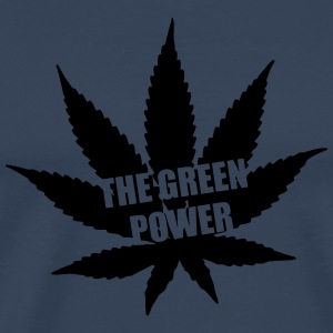 The green Power - Cannabis Manga larga - Camiseta premium hombre